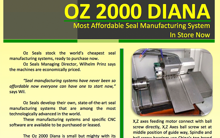 OZ 2000 DIANA – Most Affordable Seal Manufacturing System