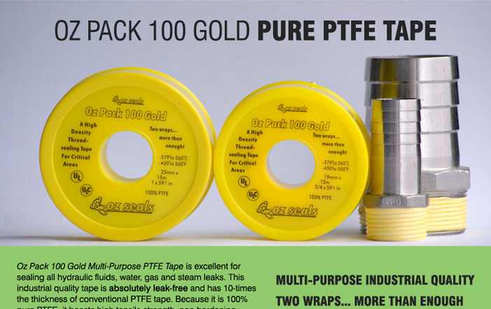 Oz Pack 100 Gold: Pure PTFE Tape will be at the NME