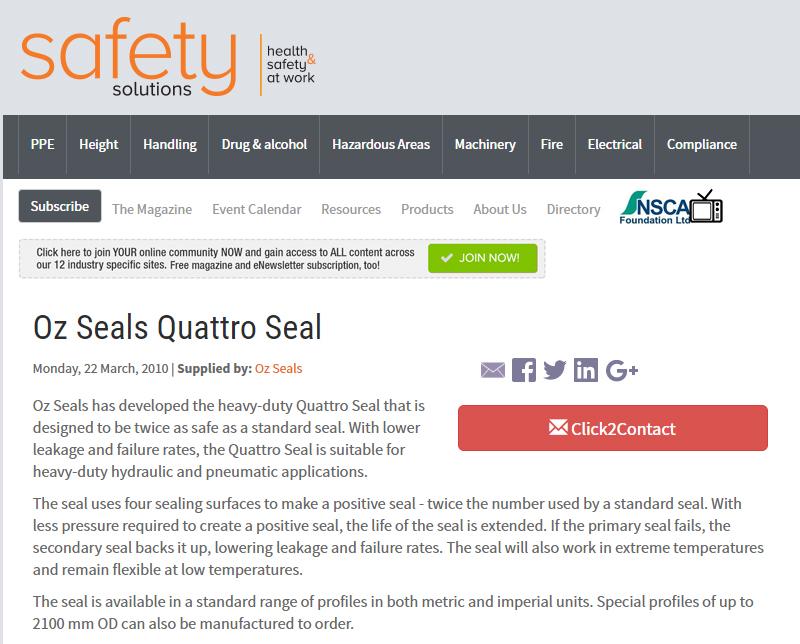 Oz Seals Quattro Seal