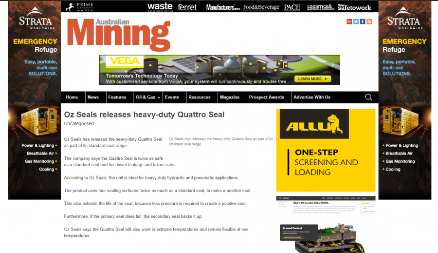 Oz Seals releases heavy-duty Quattro Seal