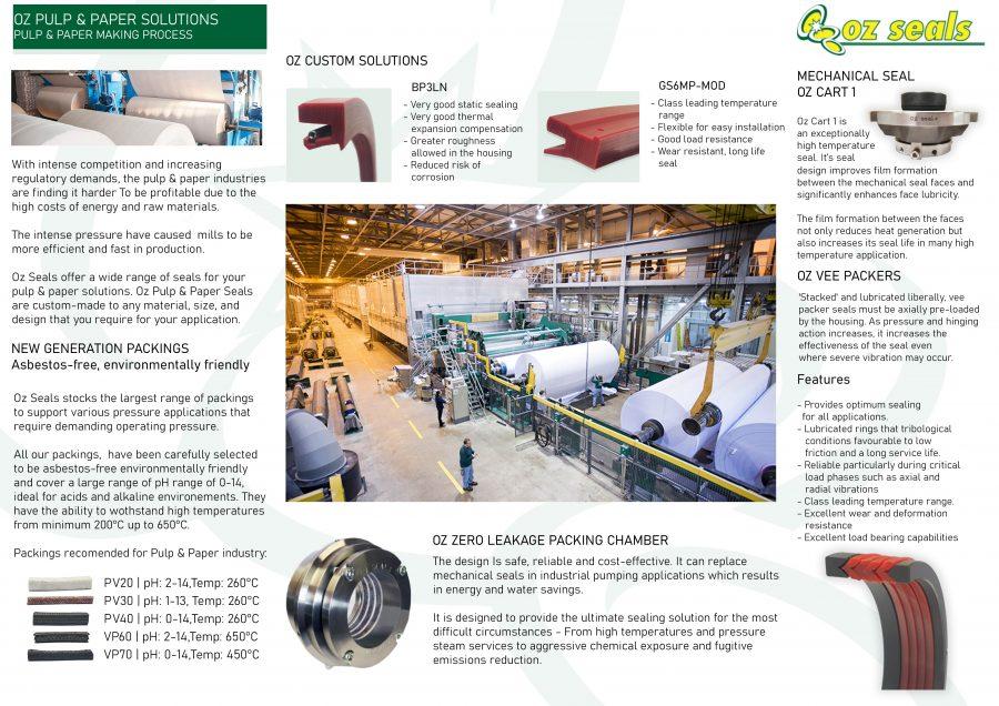 Oz Pulp & Paper Sealing Solutions